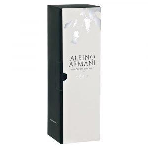 Astuccio portabottiglie firmato Albino Armani. Confezione da 1 bottiglia Magnum (1,5 lt)
